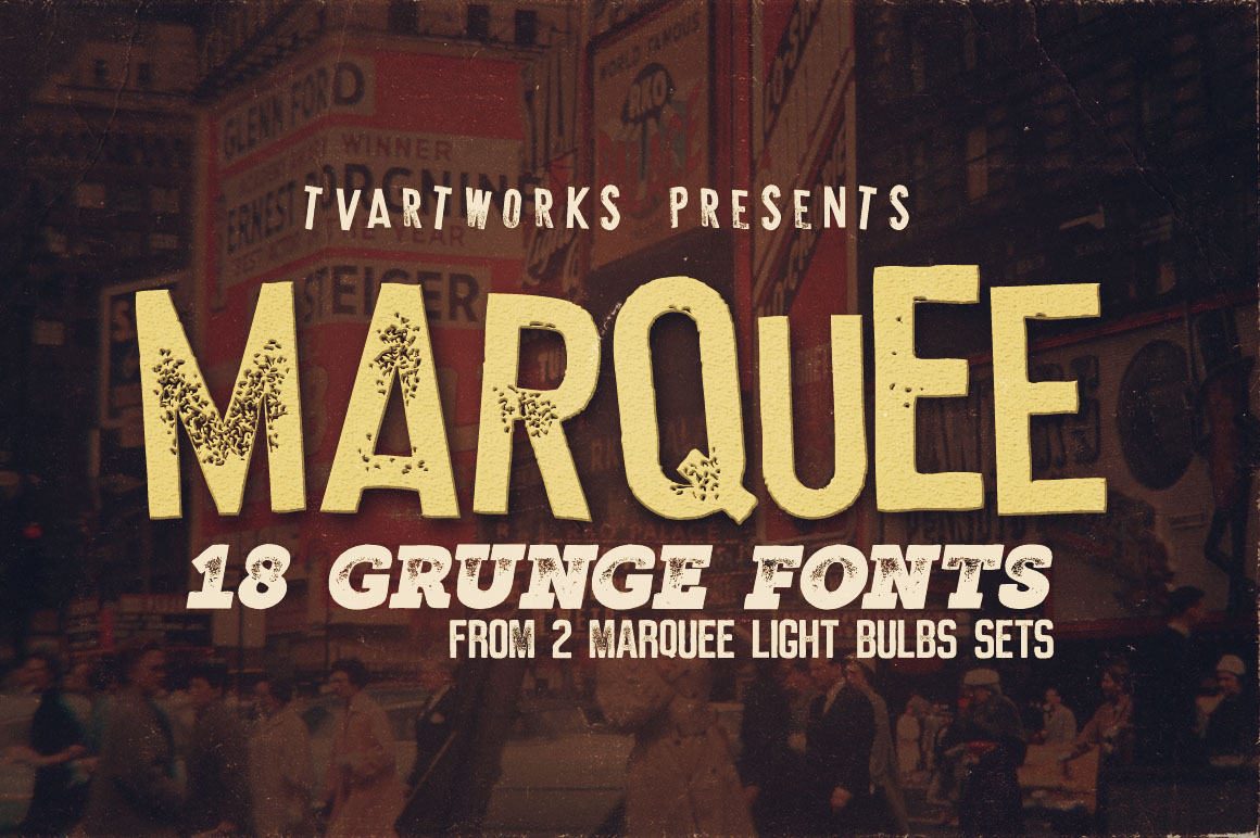 Marquee - 18 Grunge Fonts example image 1