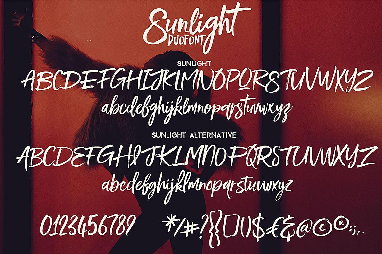 Sunlight - Brush Font Duo example image 2