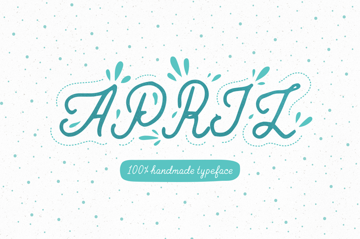 April—handwritten font example image 1