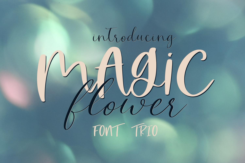 Magic Flower Font Trio example image 1