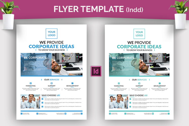 Indesign Corporate Flyer Template example image 2