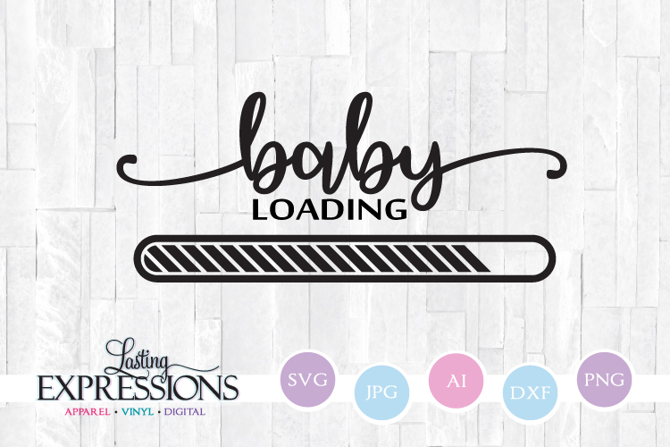 Baby Loading // Pregnancy // SVG Quote Design example image 1