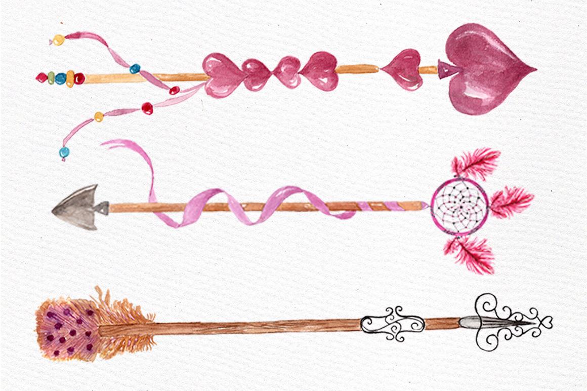 Watercolor arrows clip art example image 2