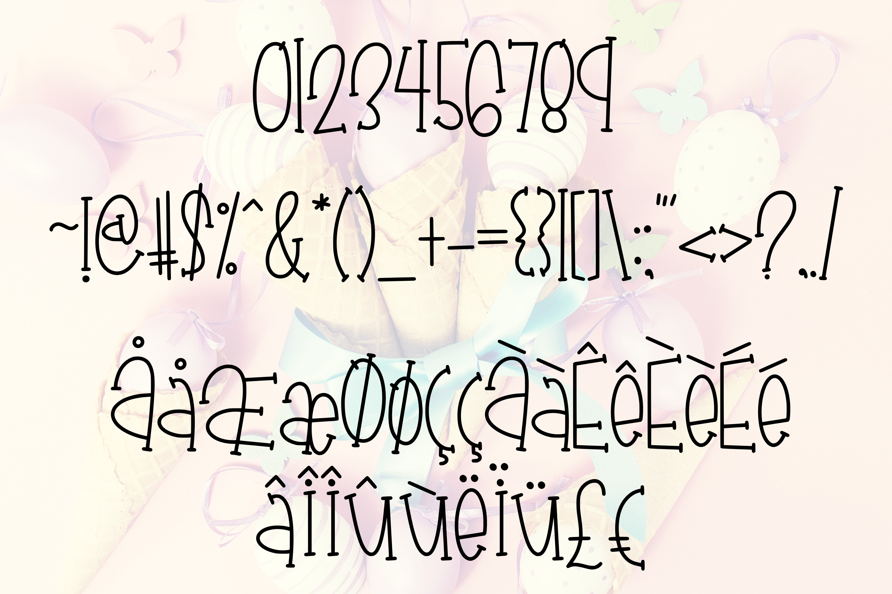 Chick-A-Leigh a Spring Font with Extra Doodles! example image 3