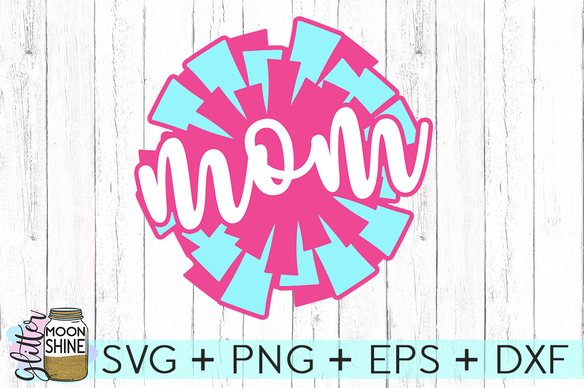Pom Pom Mom SVG DXF PNG EPS Cutting Files example image 2