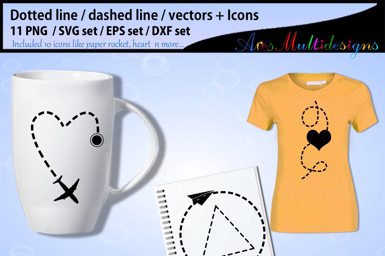 Dotted line svg vector / valentine dashed line svg example image 2
