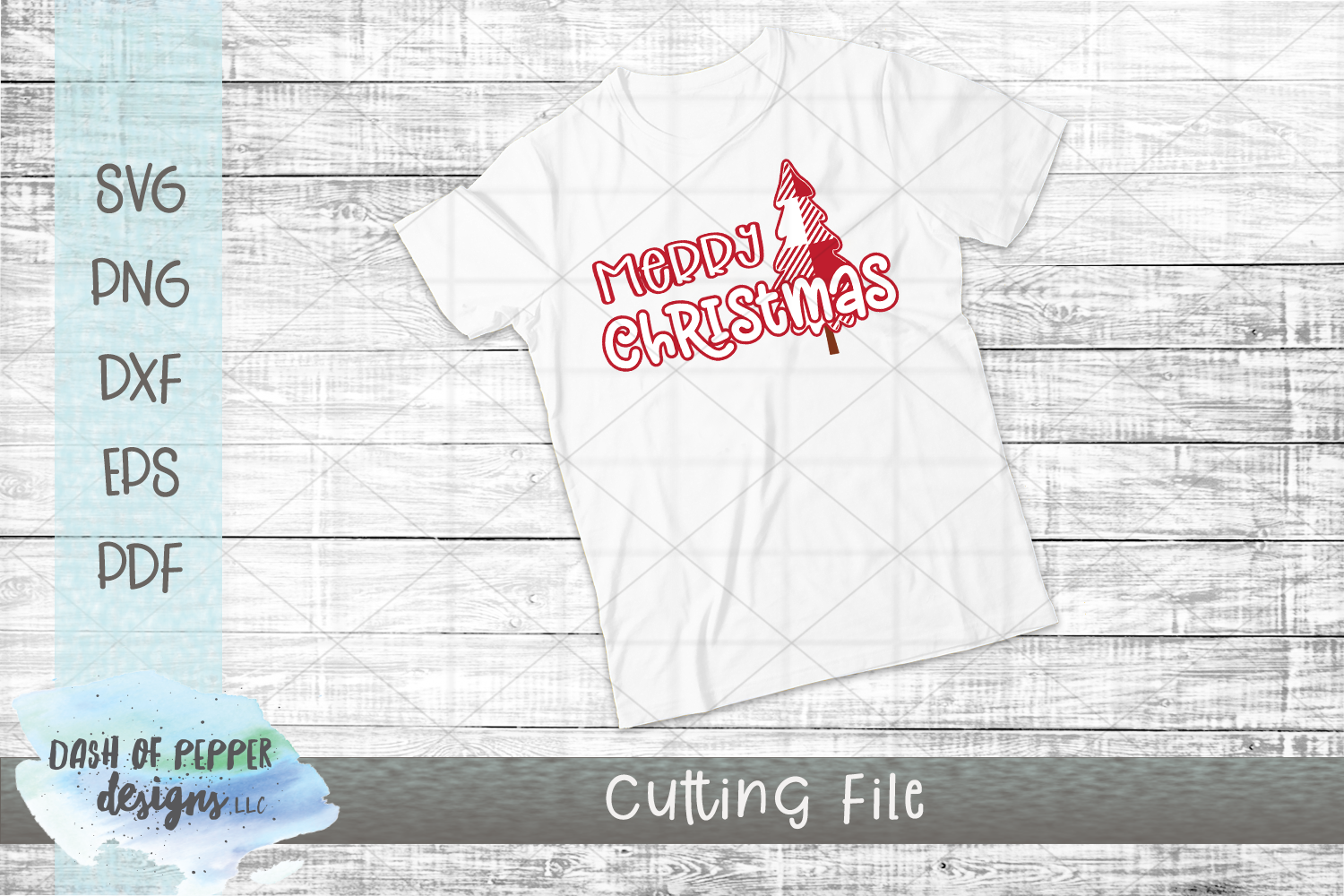 Merry Christmas SVG - A Christmas SVG with Plaid Tree example image 2