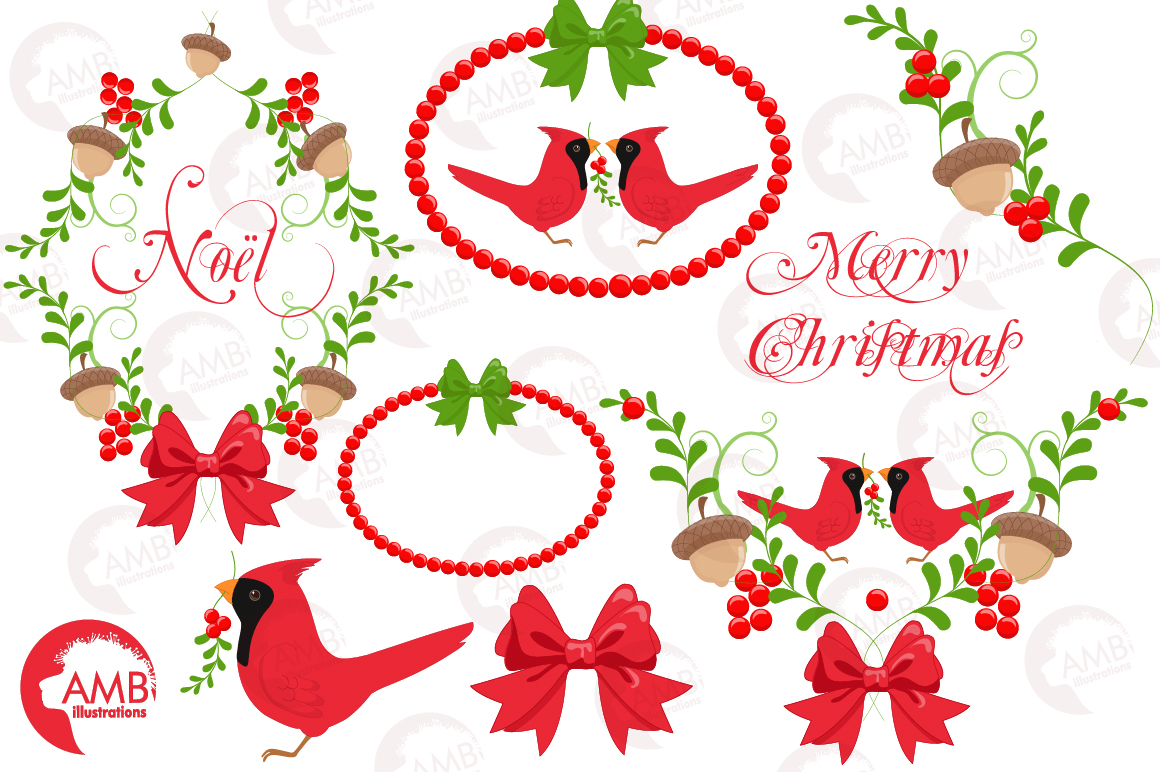 Christmas greetings embellishments, clipart, graphics, illustrations AMB-1464 example image 5