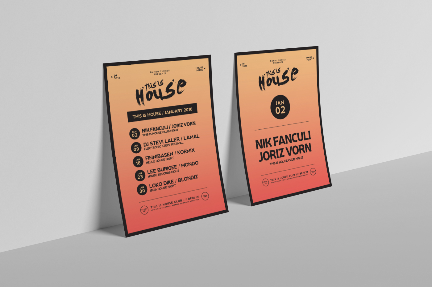 This Is House Flyer Templates example image 8
