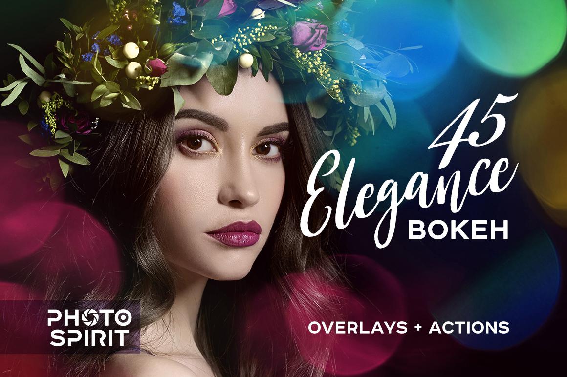 45 Elegance Bokeh Overlays example image 1