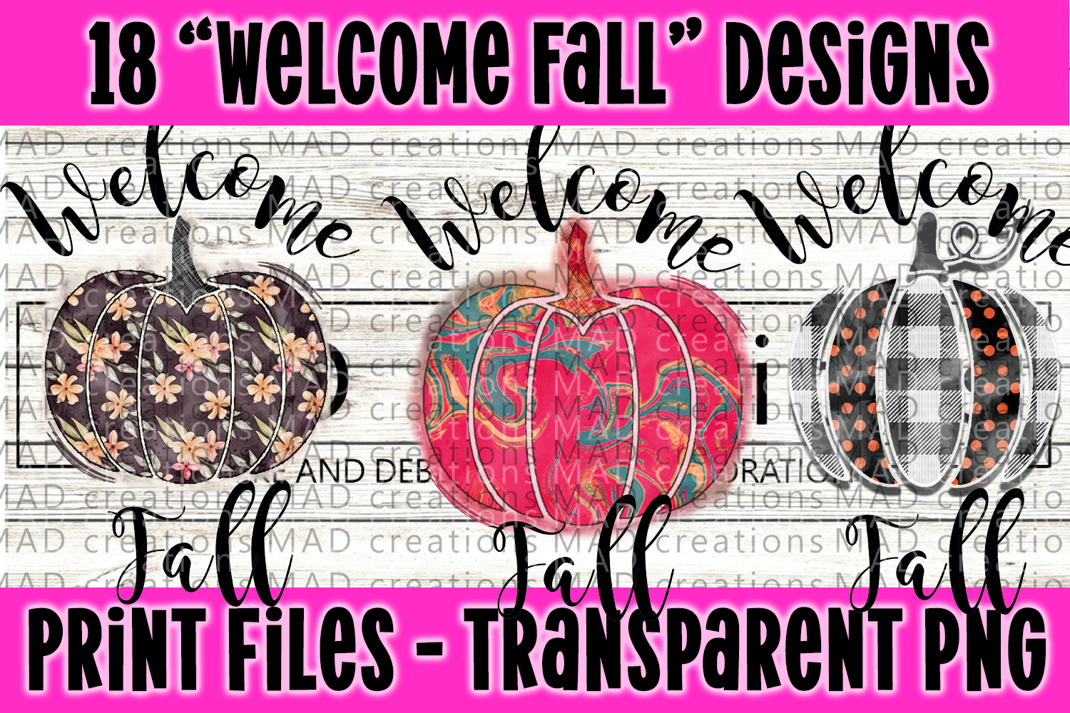18 PNG Welcome Fall Bundle - Print File example image 5