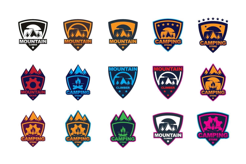 Mountain gear logo example image 1