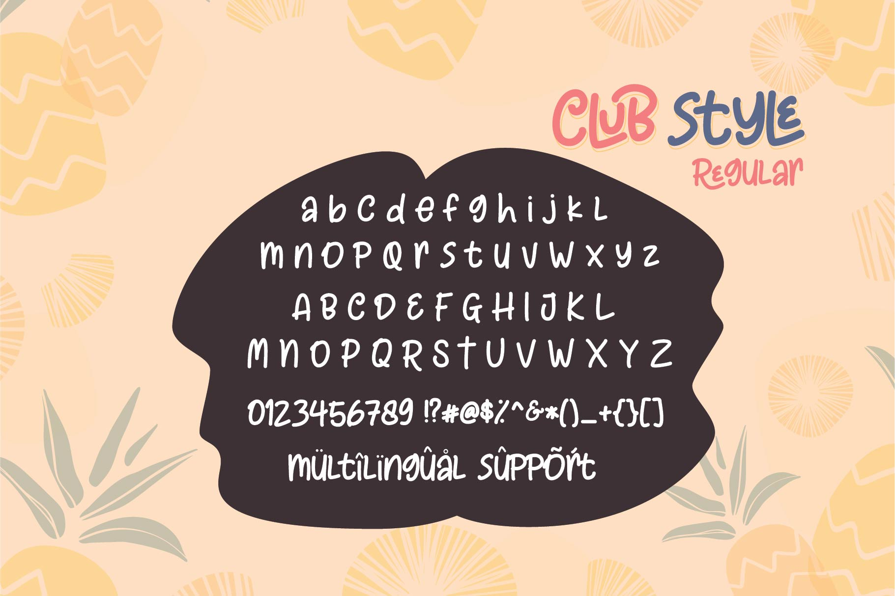 Club Style - 2 Cute Fun Font example image 2