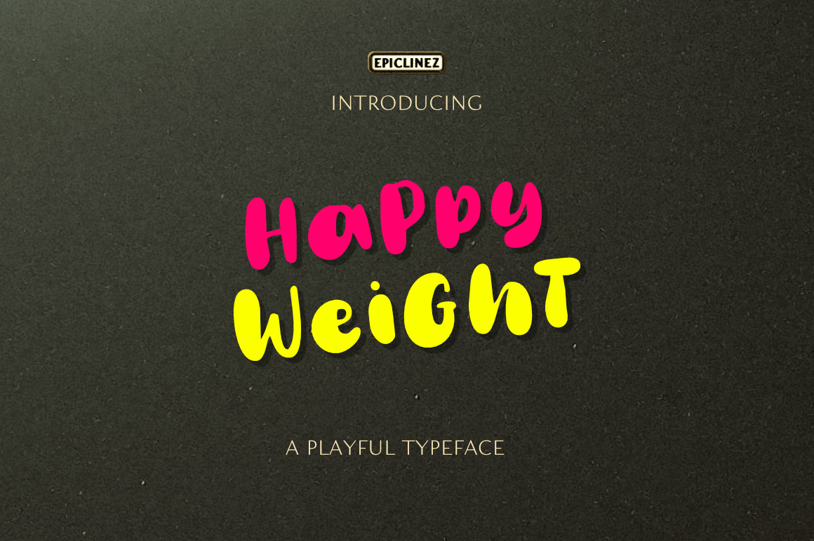 Happy Weight - A Playful Typeface example image 8