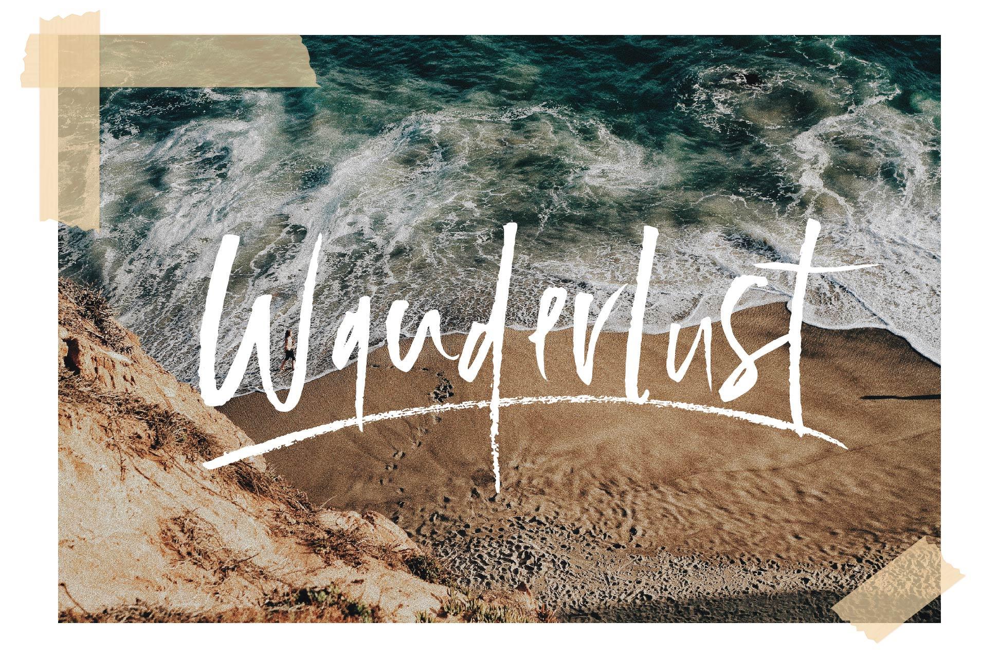Wanderlust Font Set example image 1
