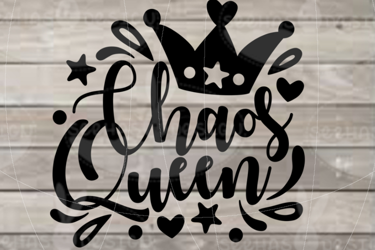 File Chaos Queen for Cutting Print Lasercut SVG PDF EPS example image 2