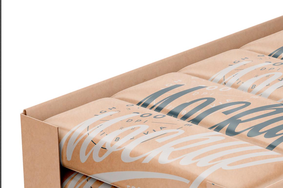 Kraft Snack Bars Box 20x80g Mockup example image 5