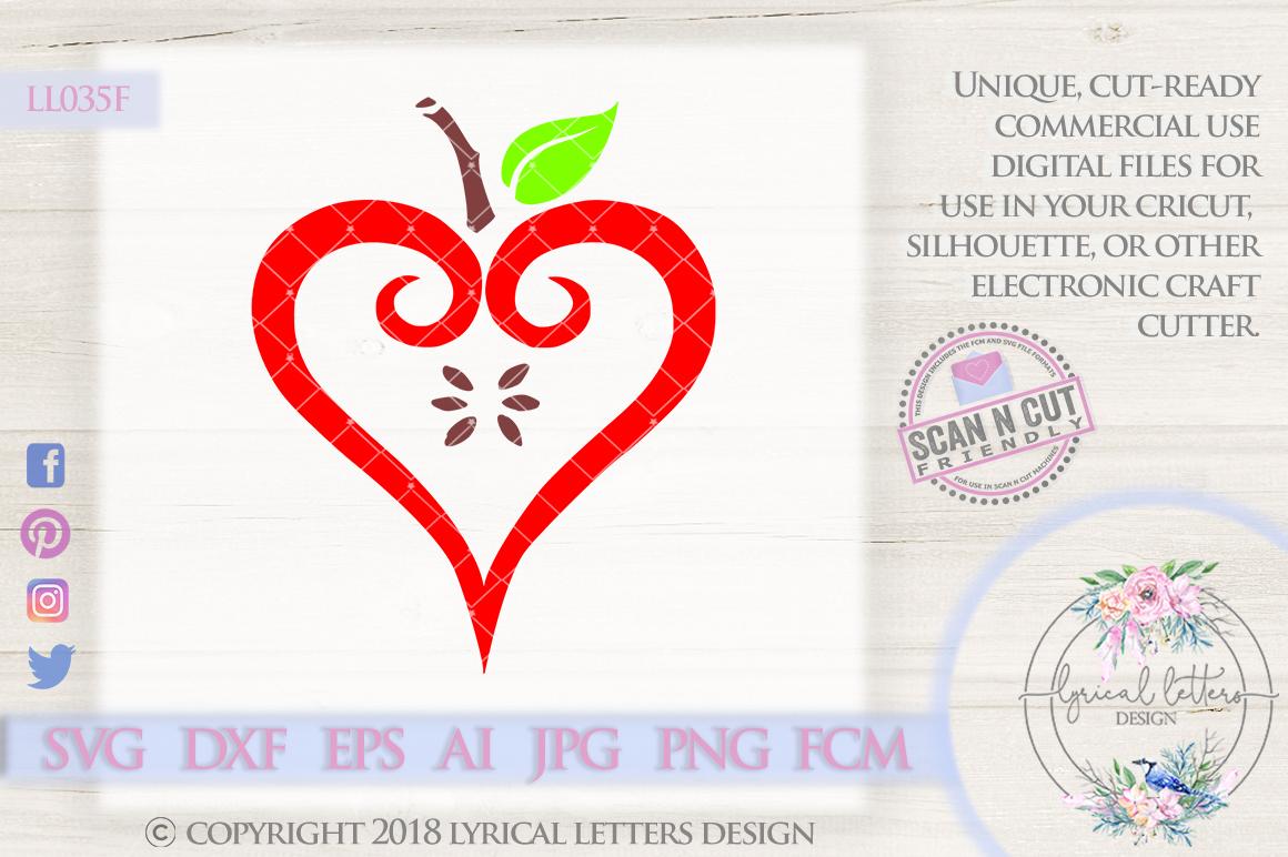 Apple Heart Teacher SVG Cut File LL035F example image 1
