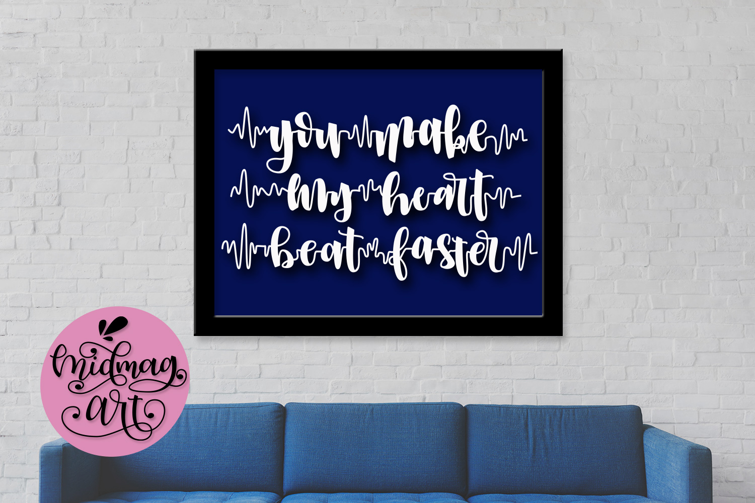 You make my heart beat faster svg, png, jpeg, eps and dxf example image 3