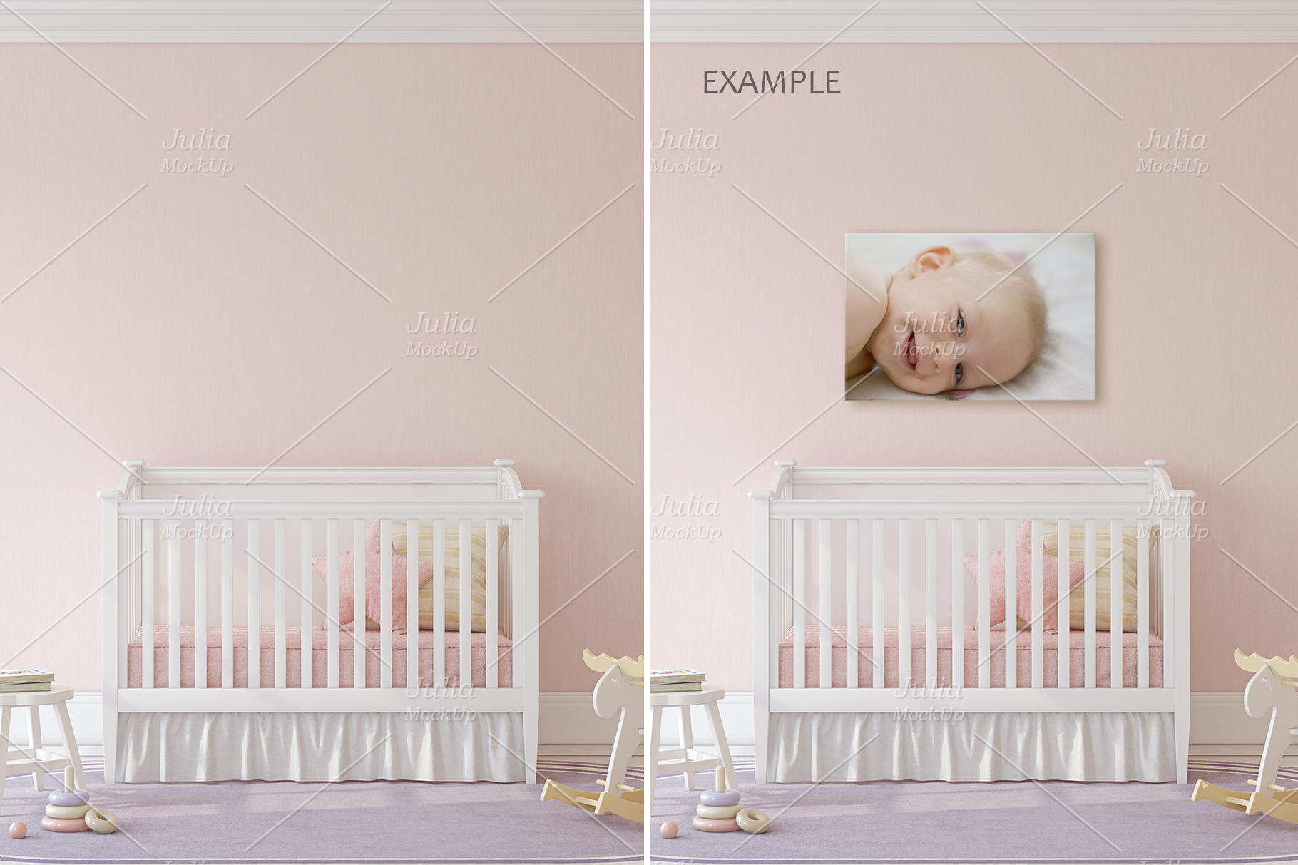 Pink Interiors. Frames&Canvases Mockup. example image 7