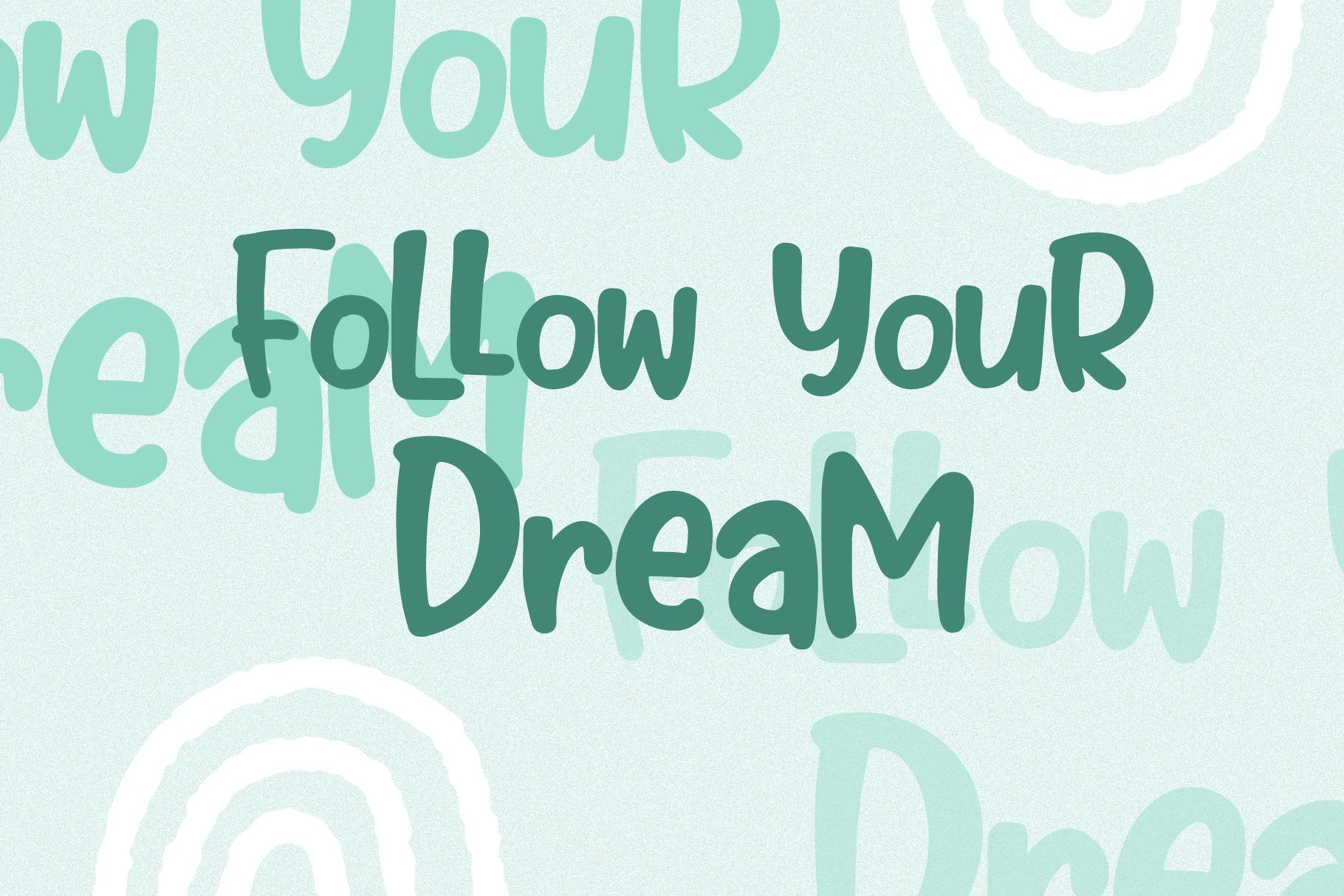 Bubble Mint - Fun written Font example image 2