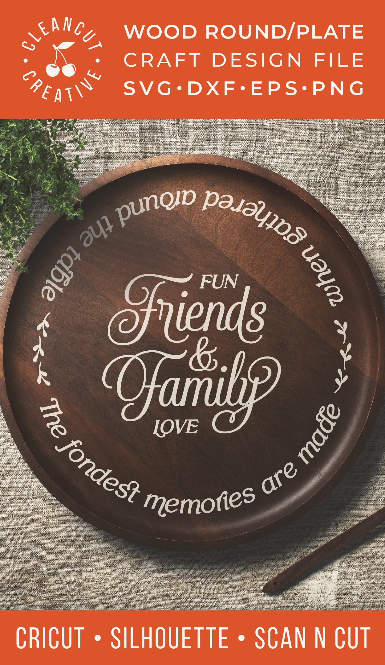 Friends & Family Fondest Memories Gathered Table - round svg example image 4
