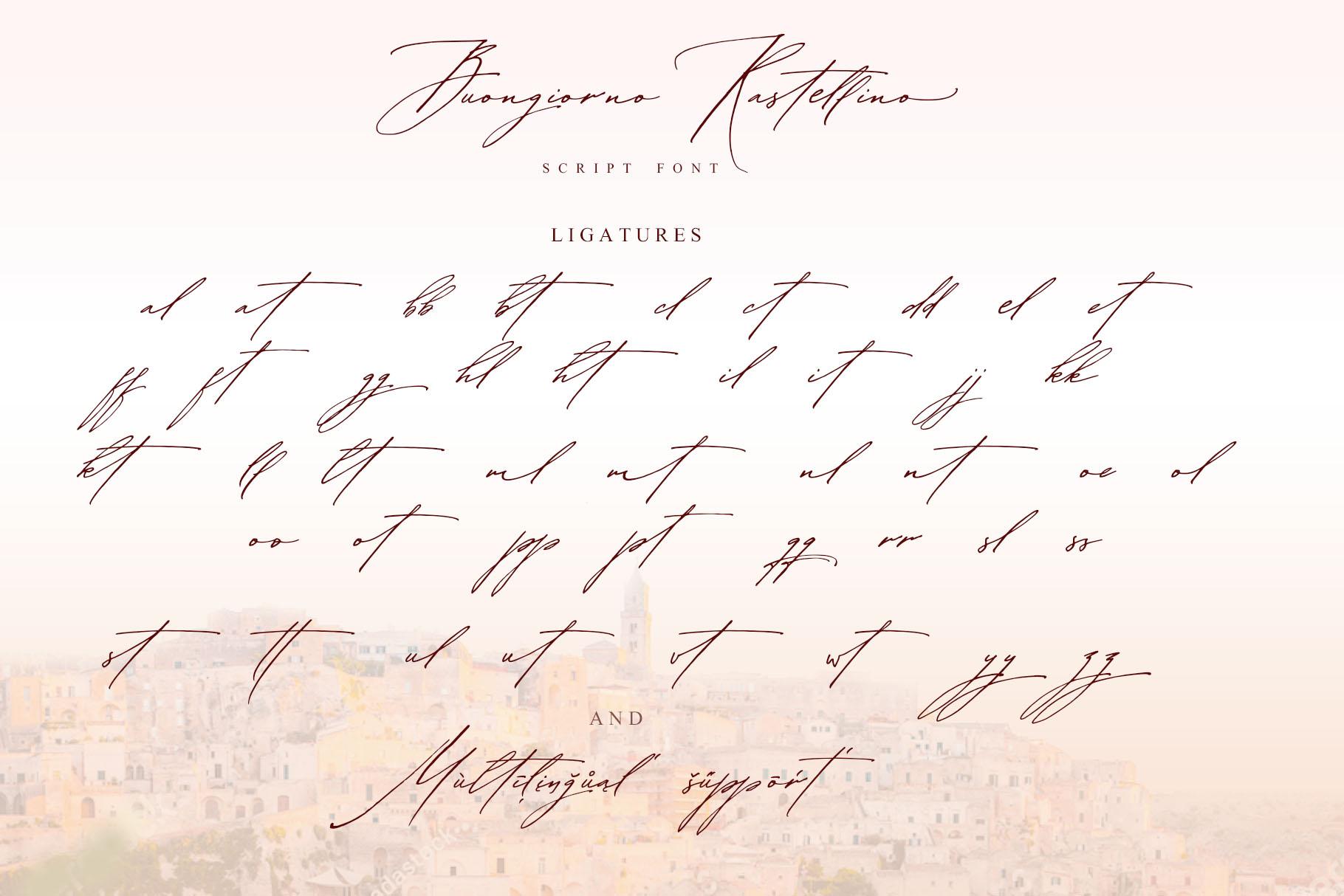 Buongiorno Rastellino script font example image 13