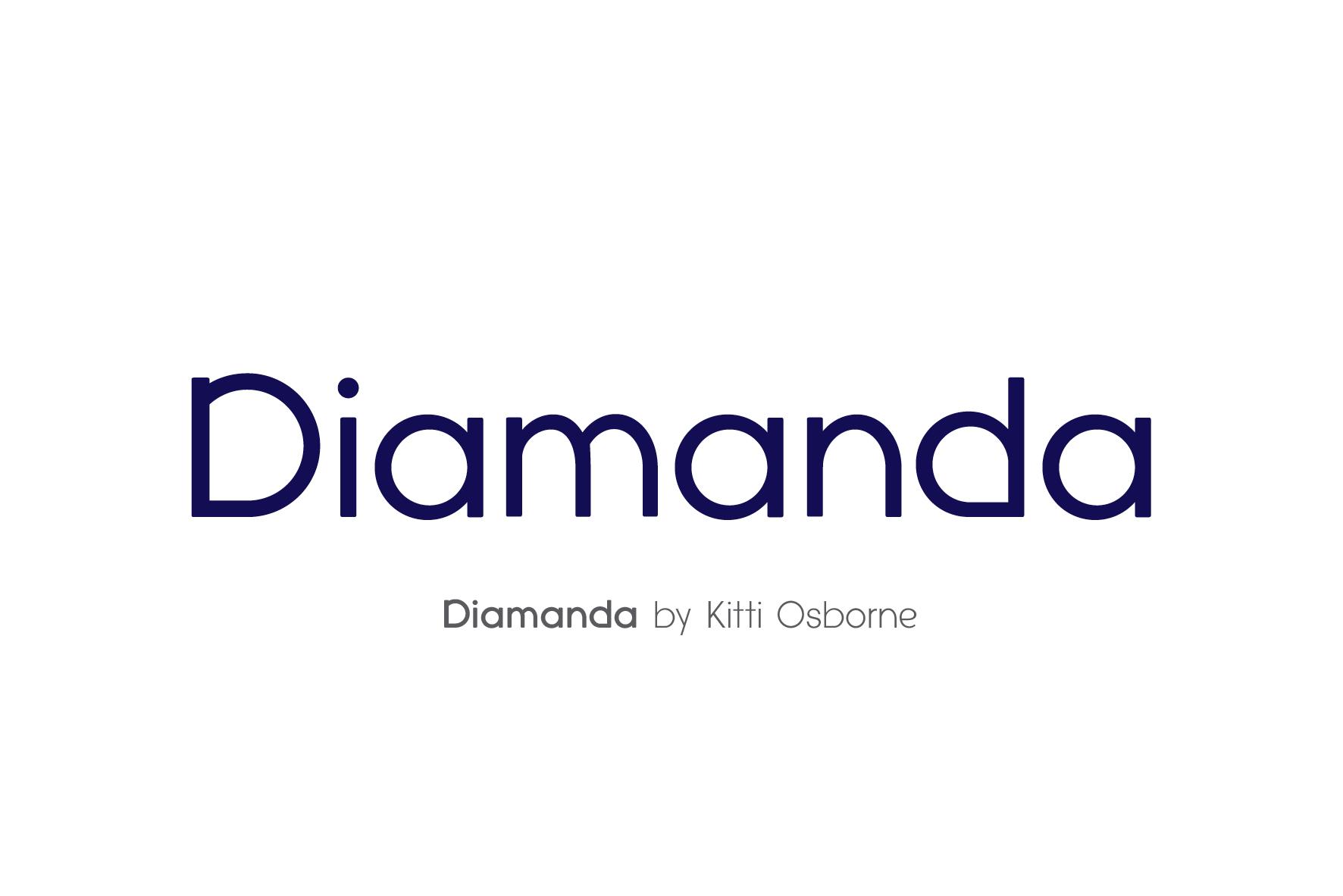 Diamanda Font Family Bundle includes 6 crafting fonts example image 13