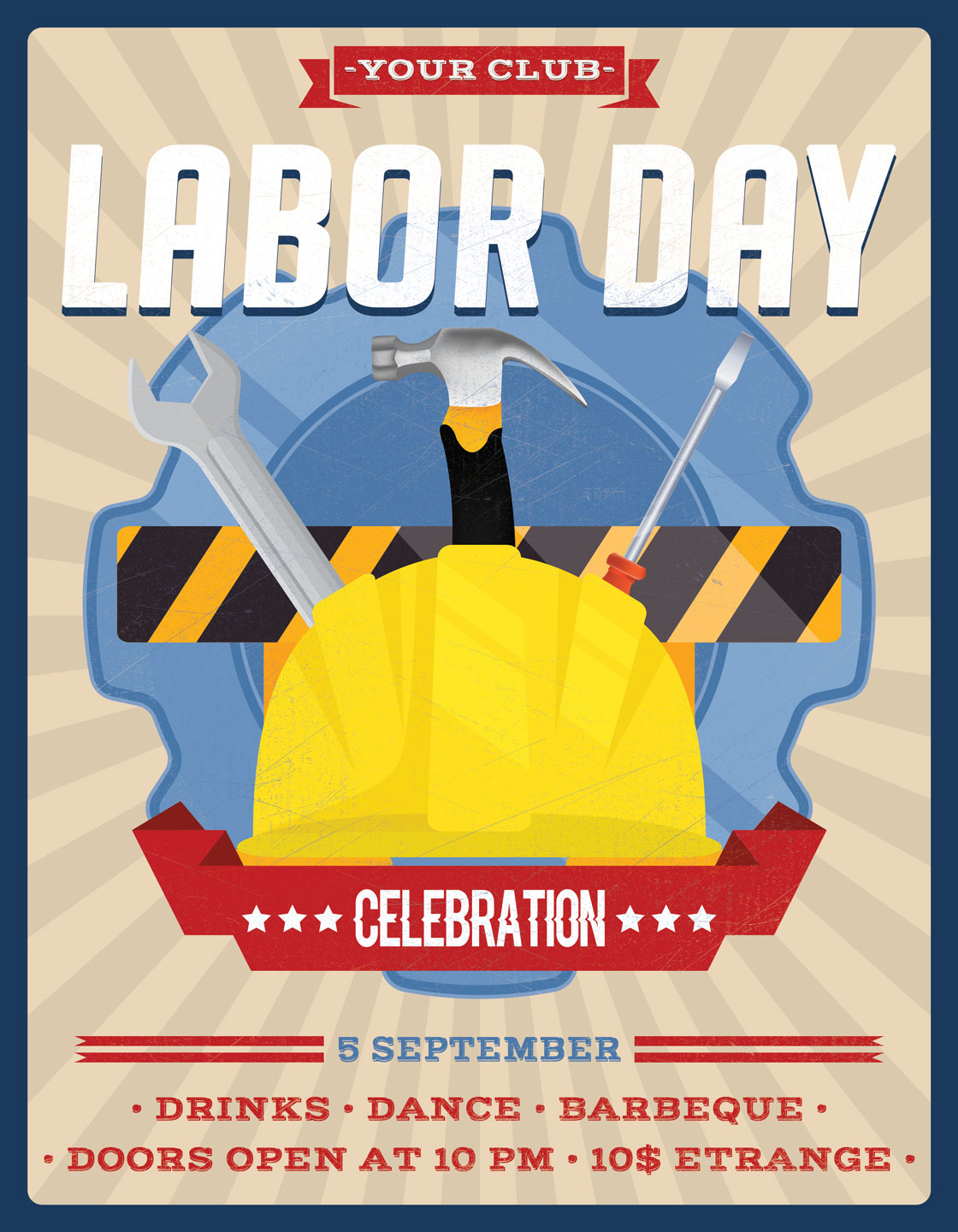 Labor Day Flyer Poster example image 3