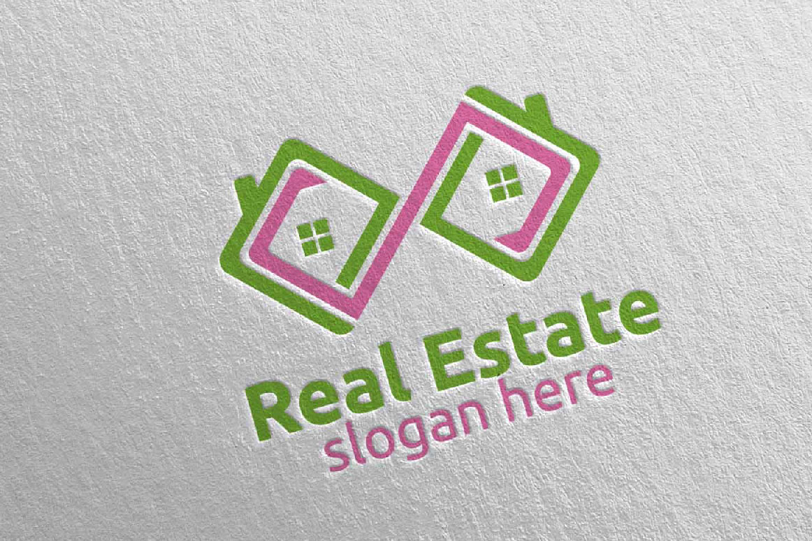 Real Estate Infinity Logo Design 38 example image 3