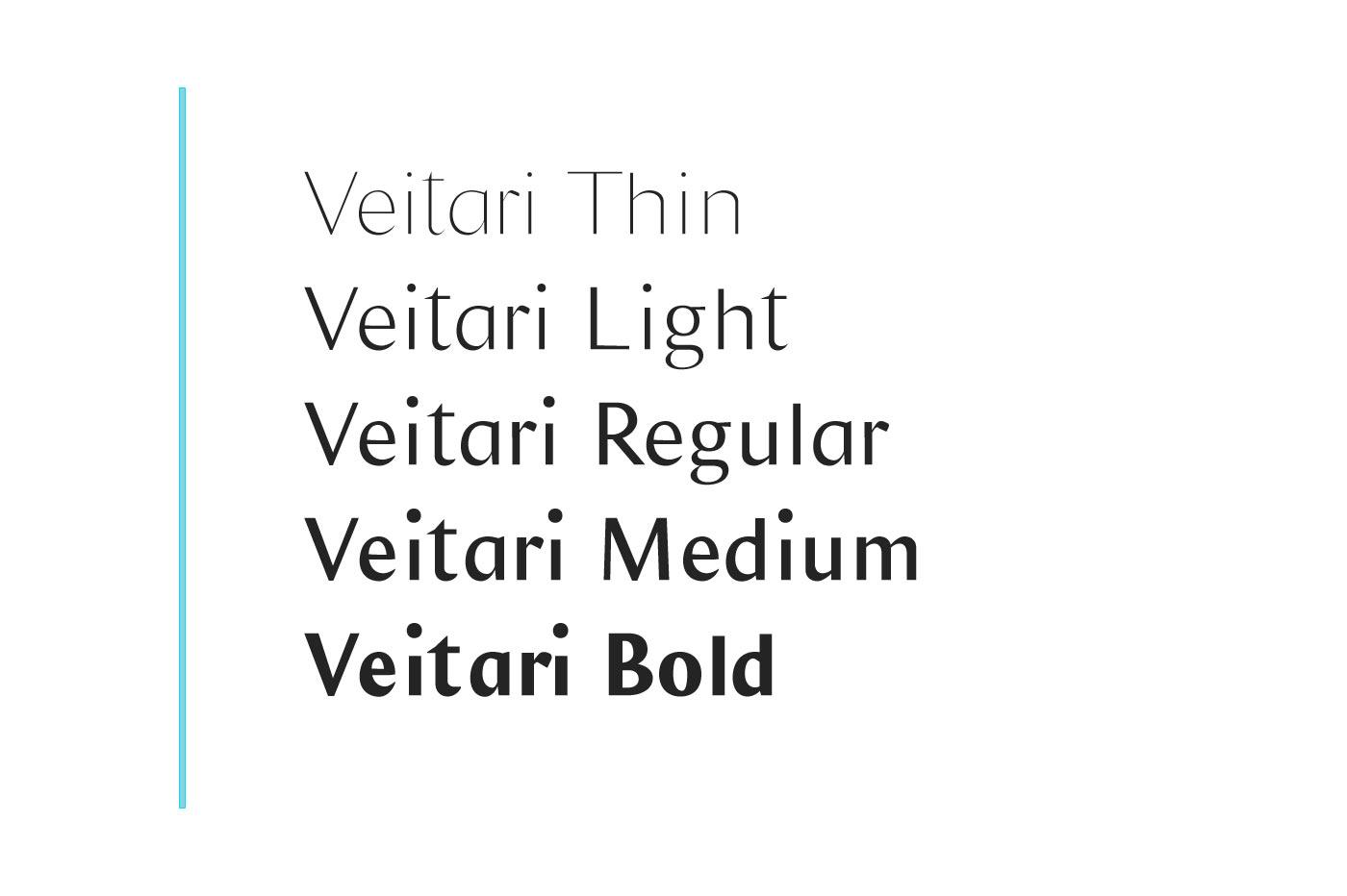 Veitari Typeface example image 2