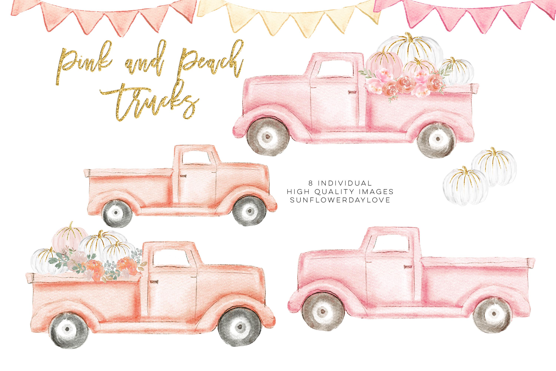 Autumn Truck, pink Pumpkin Harvest Truck example image 2