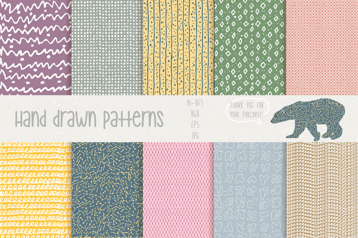 Hand Drawn Patterns #1 example image 4