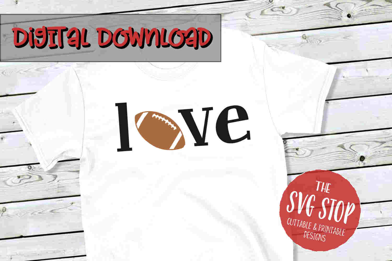 Football Love 4 -SVG, PNG, DXF example image 1