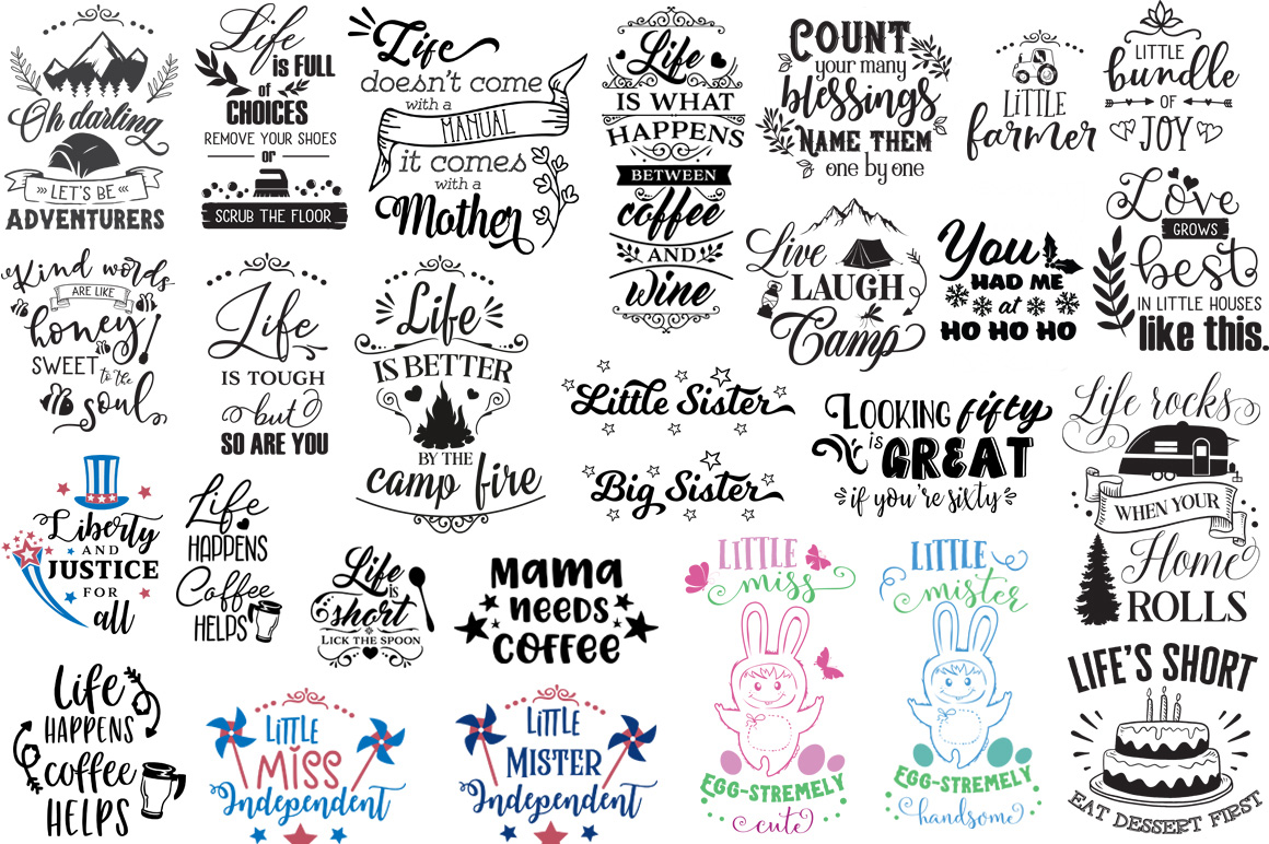 The Ginormous SVG Cut Files Bundle example image 14