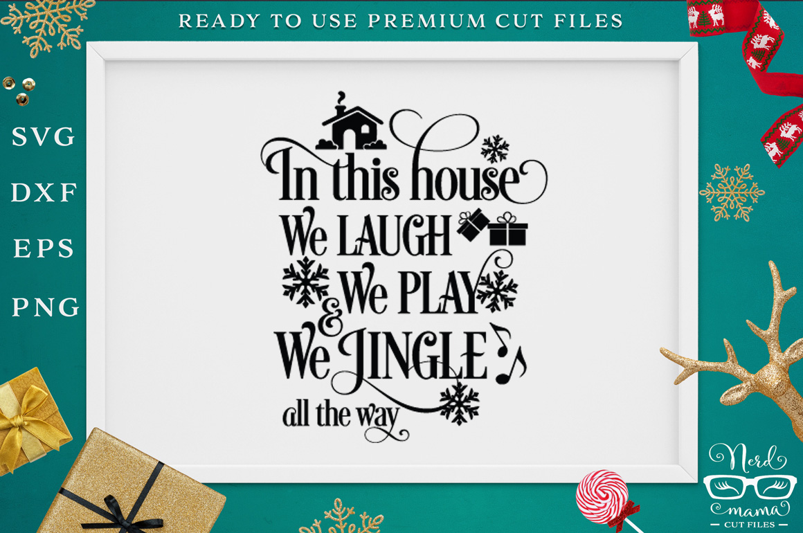 We jingle all the way SVG Cut File example image 1