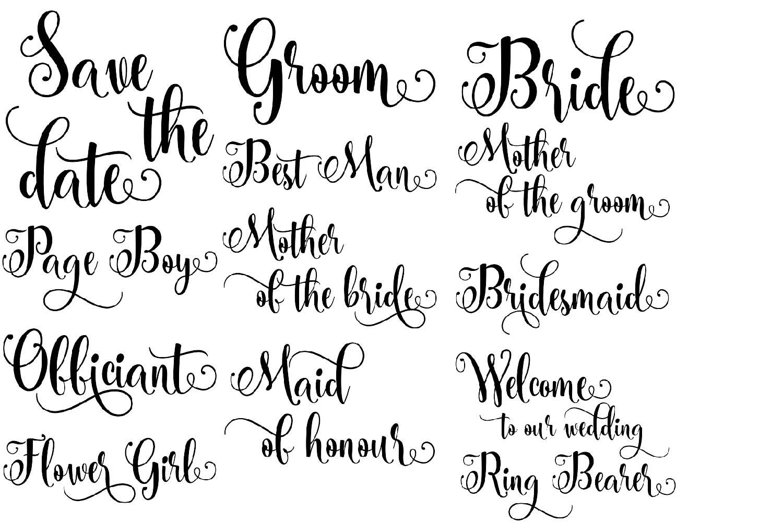 Wedding BUNDLE - svg cut files example image 2