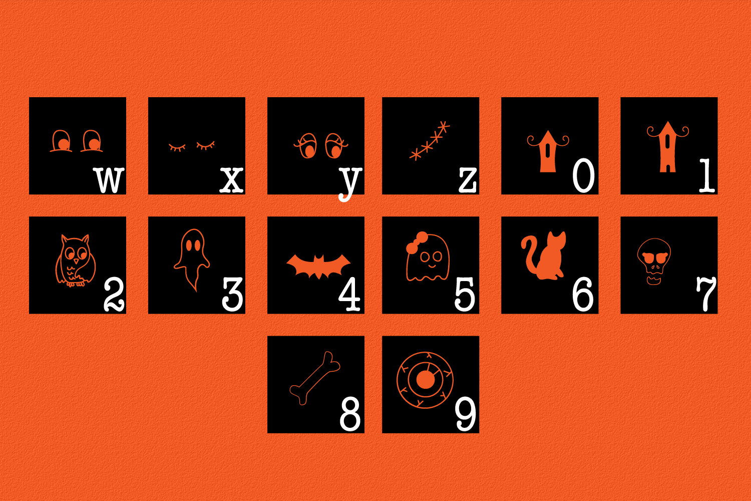 Spooky Squad - A Halloween Dingbat Font example image 8
