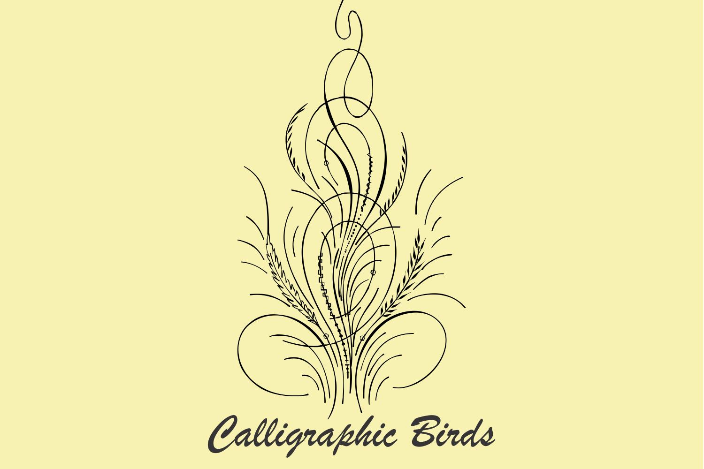 Calligraphic Birds example image 3