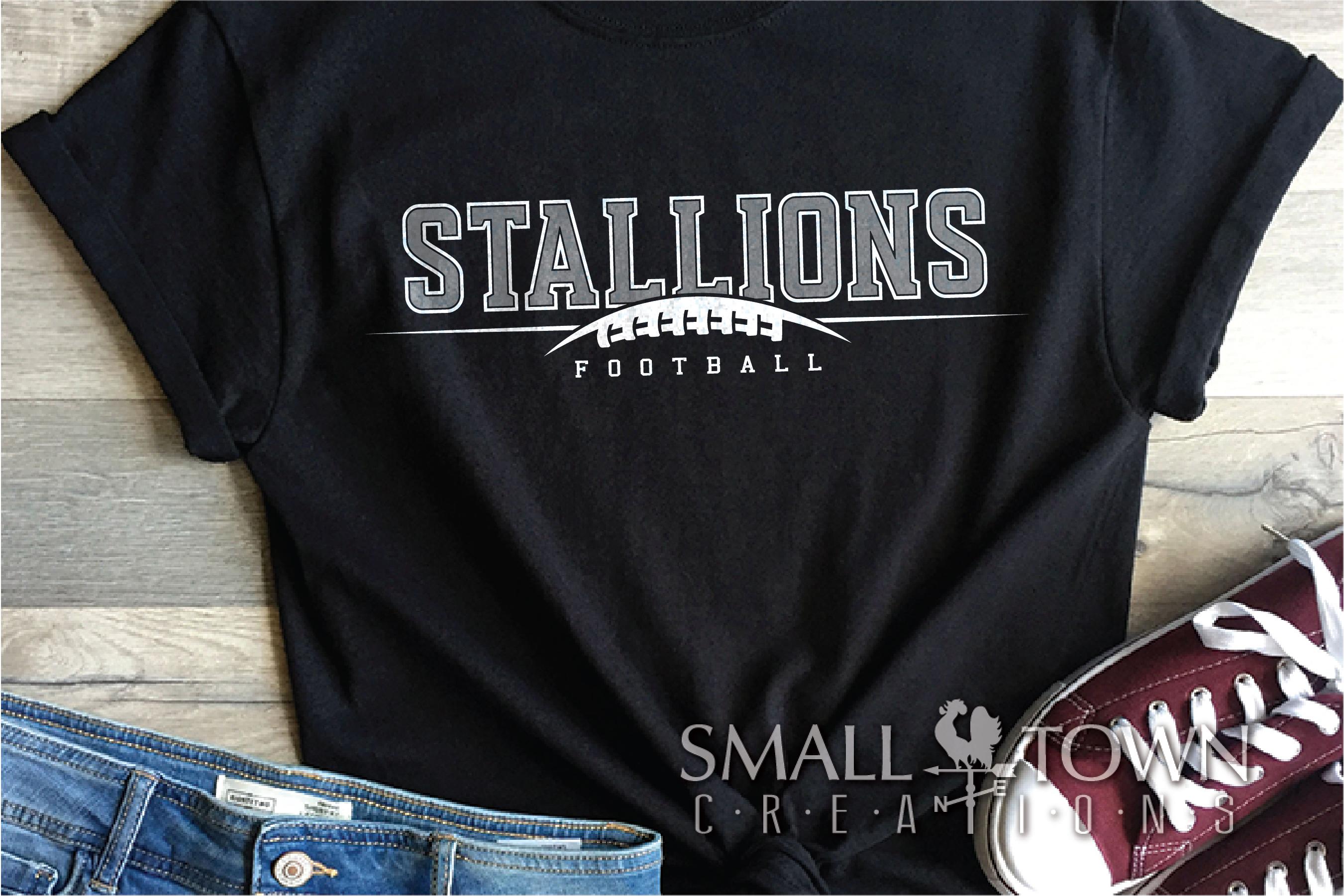 Stallions Football Team, Team, Sport, PRINT, CUT & DESIGN example image 1