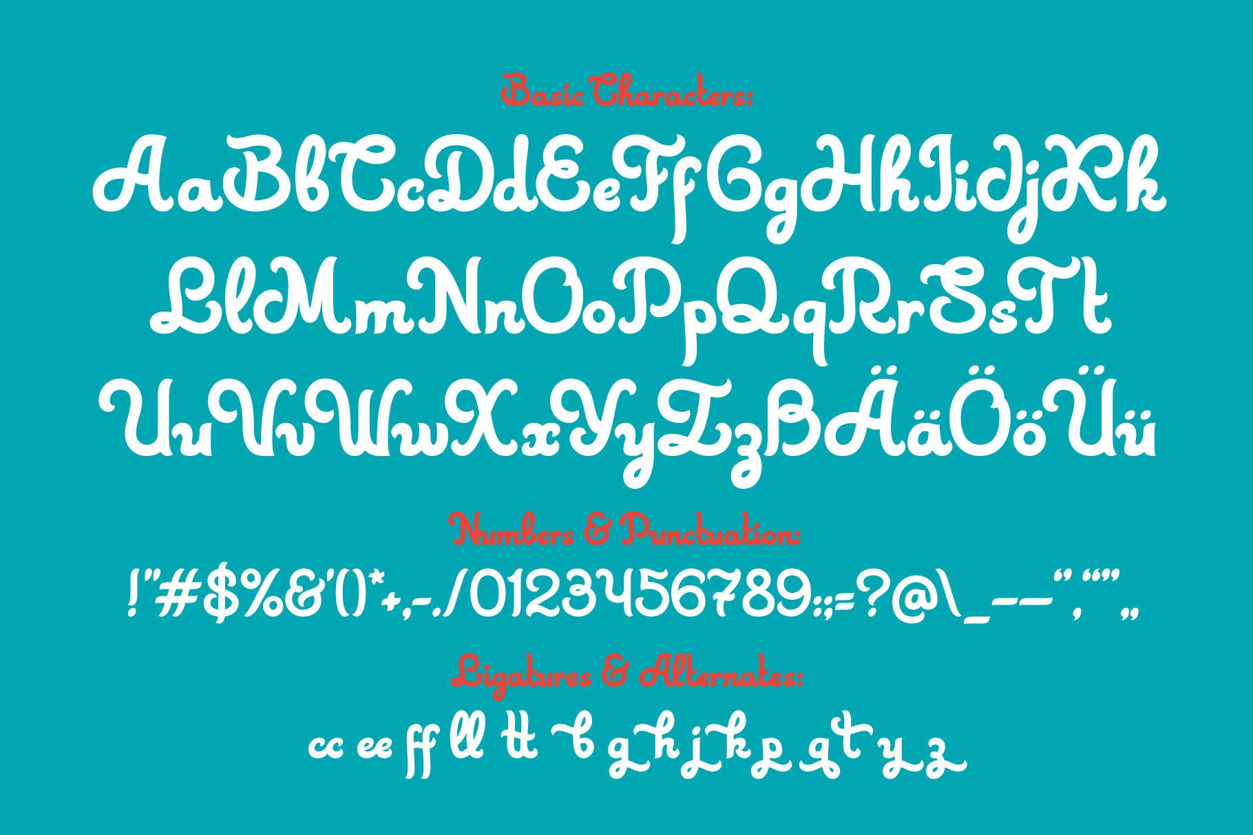 Skater Girl font Bonus example image 3