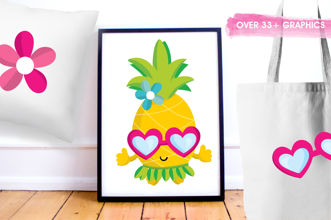 Pineapple party graphics and illustrations example image 5