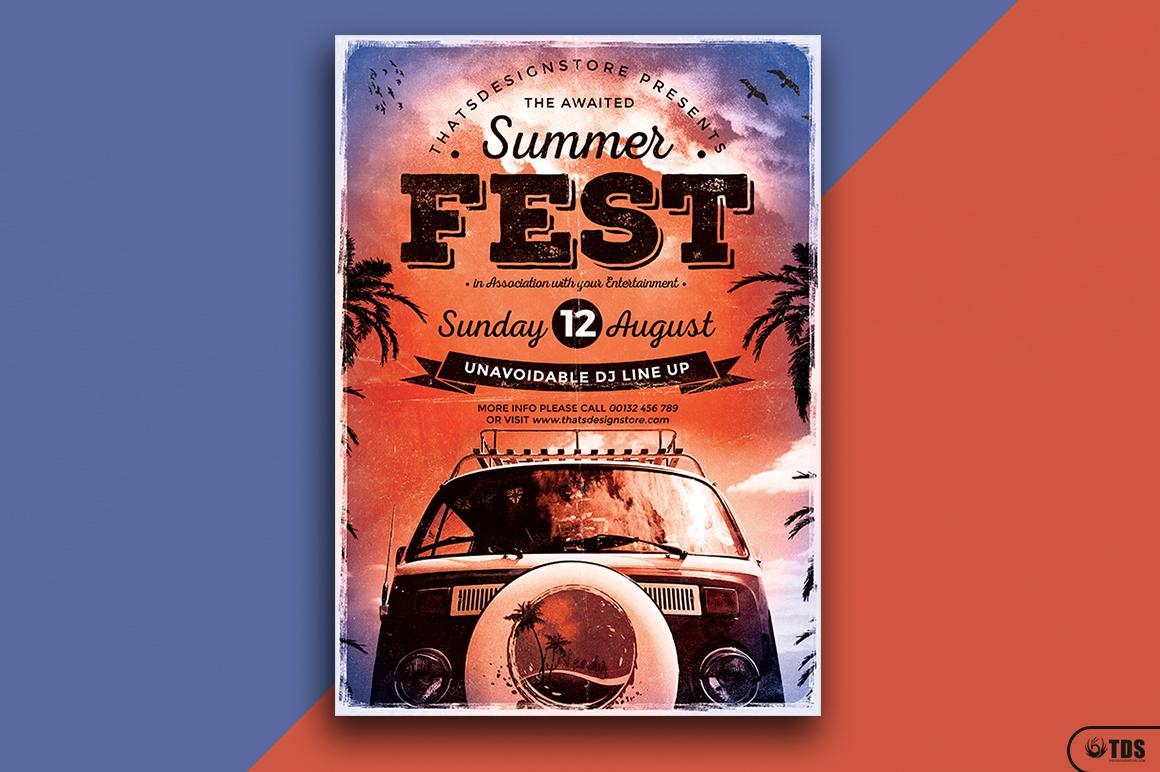 Summer Fest Flyer Template V2 example image 1