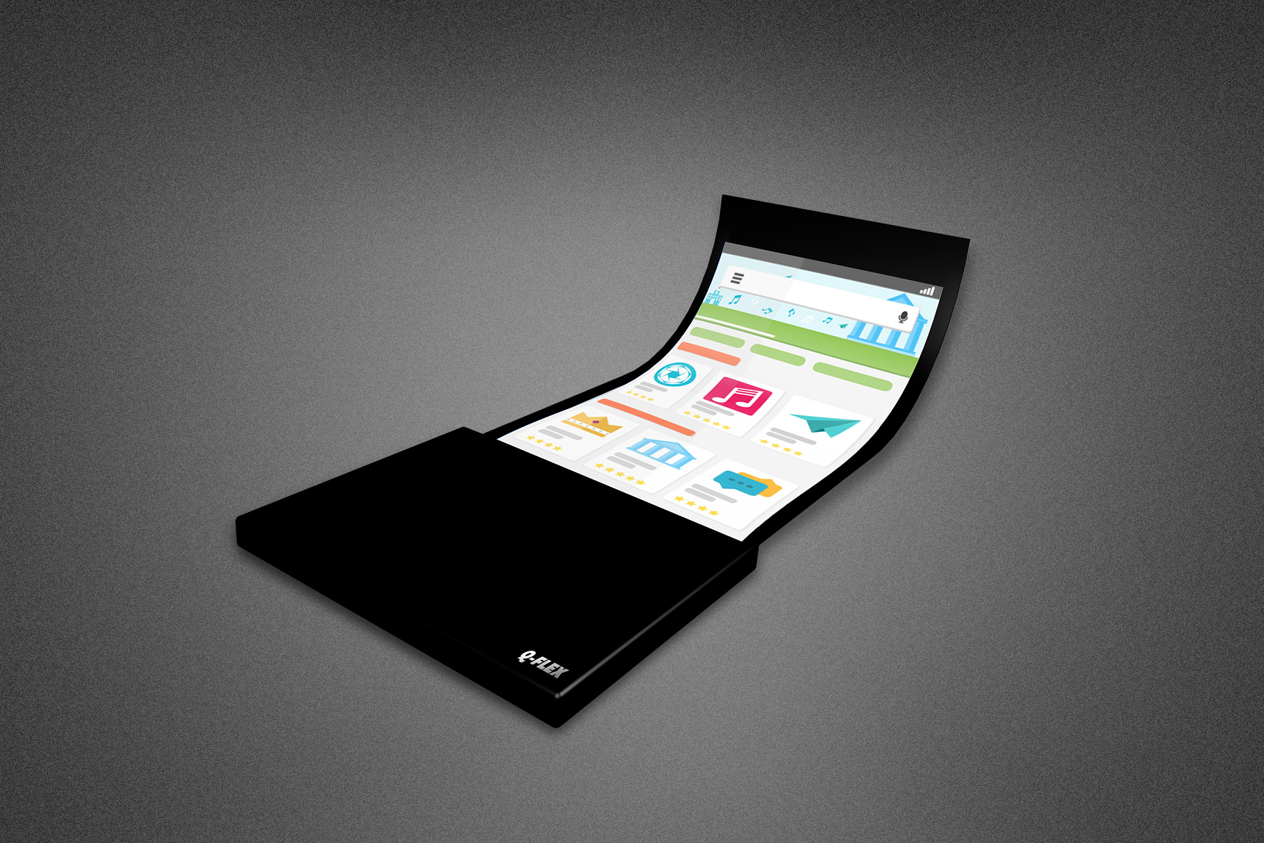 Flexible Phone Mockup Template example image 4