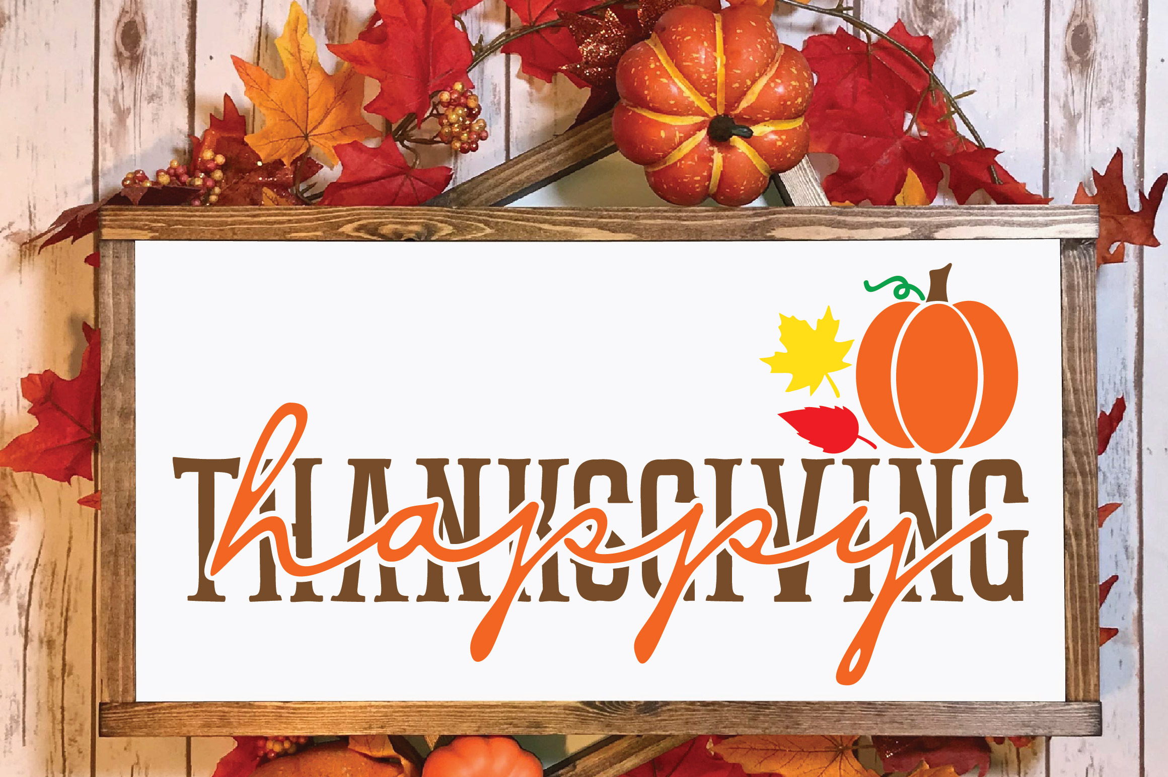 Happy Thanksgiving SVG Cut File example image 2