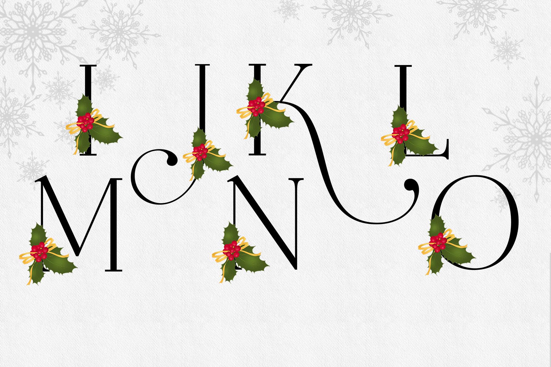 Holiday Alphabet Design Set example image 8