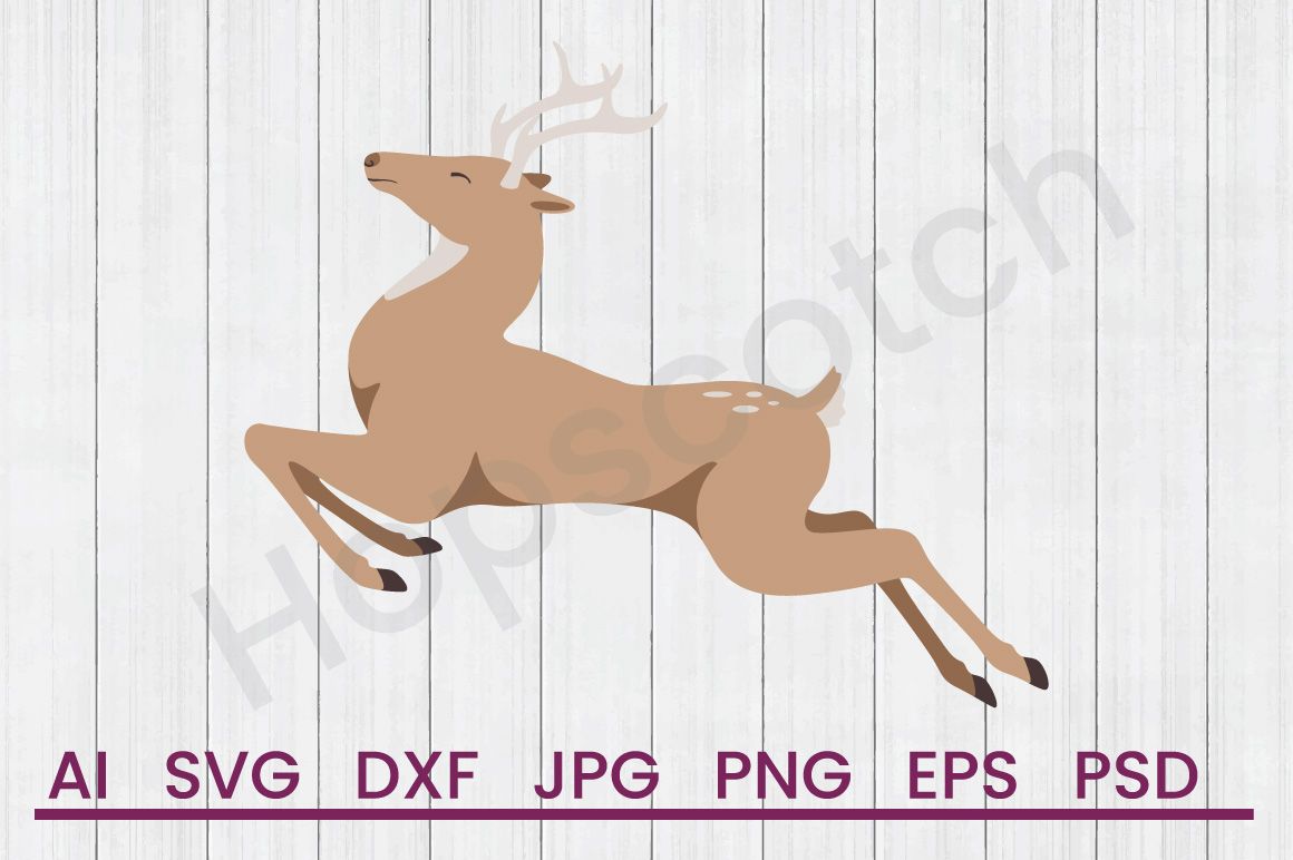 Deer SVG, DXF File, Cuttatable File example image 1