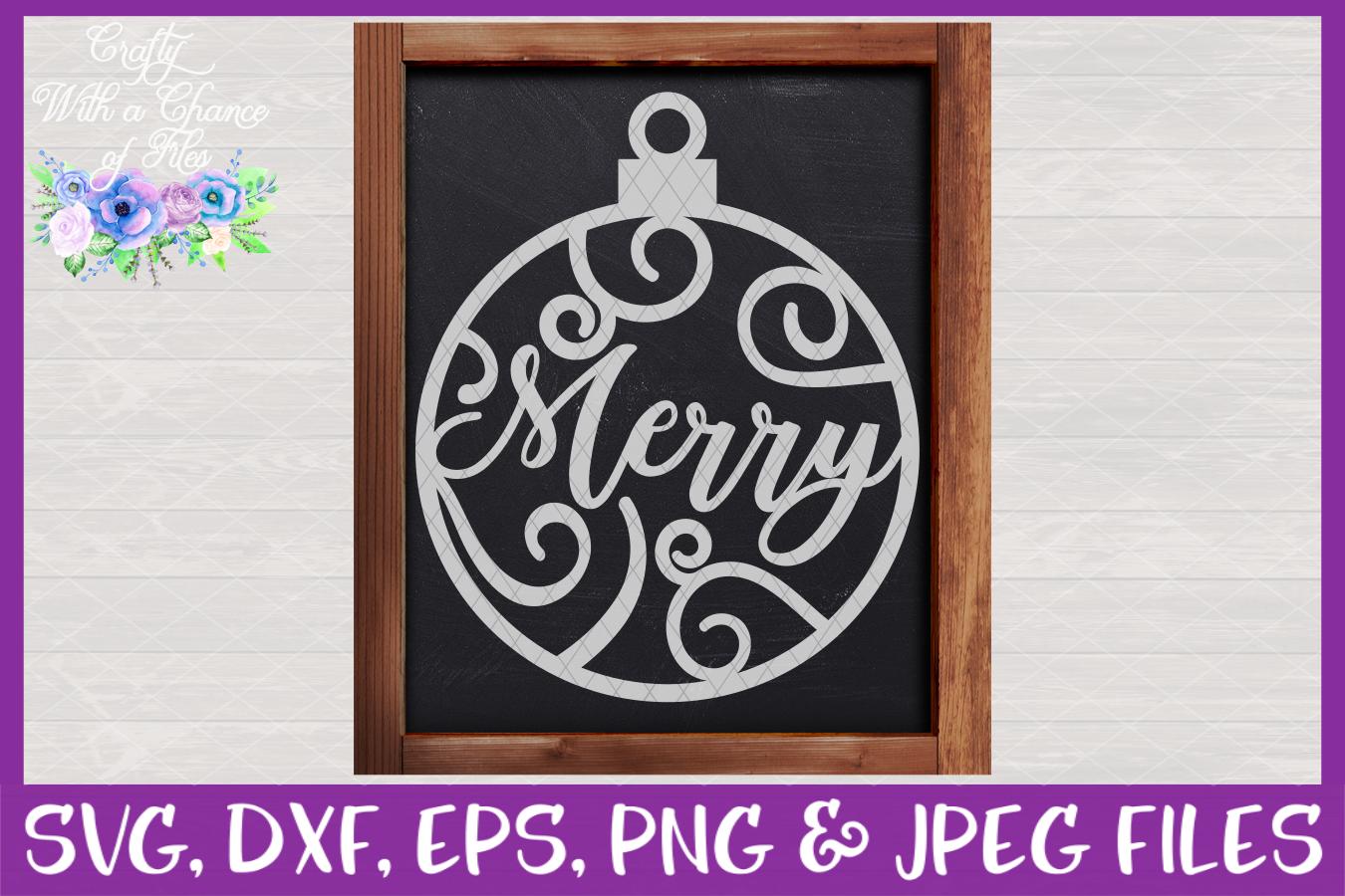 Christmas Word Ornaments SVG Christmas Flourish Baubles example image 9