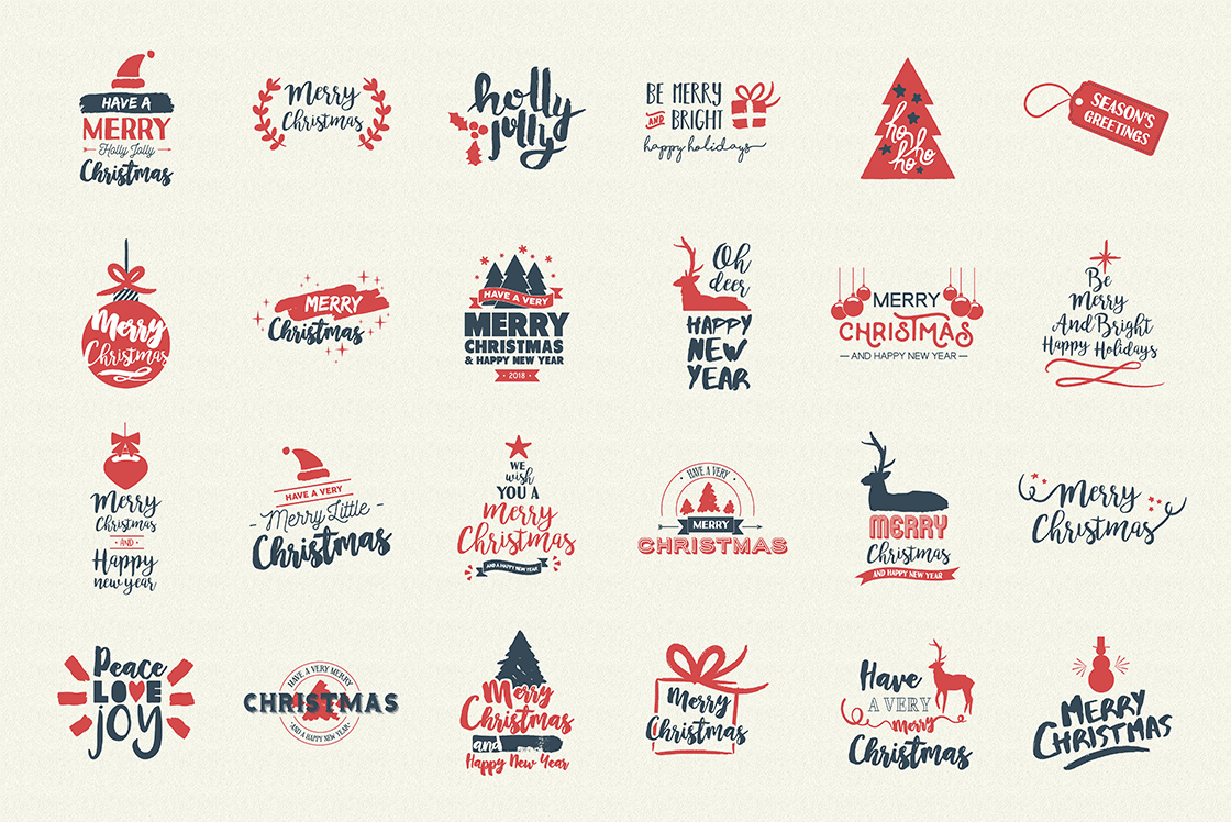 INTRO SALE 95% OFF! NEW Christmas quotes pack example image 6