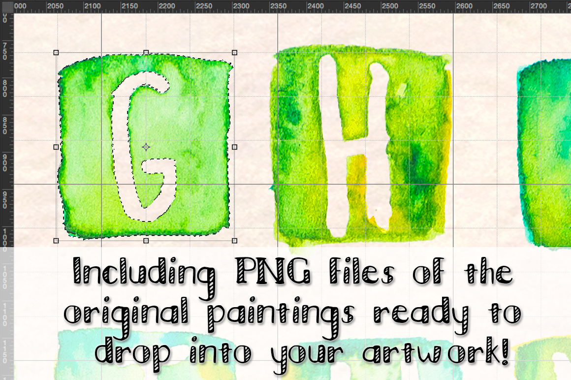 3 Watercolor Alphabet Brush Sets example image 2